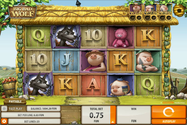 Big Bad Wolf im casino Playfortuna