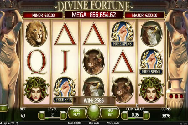 divine fortune video slots