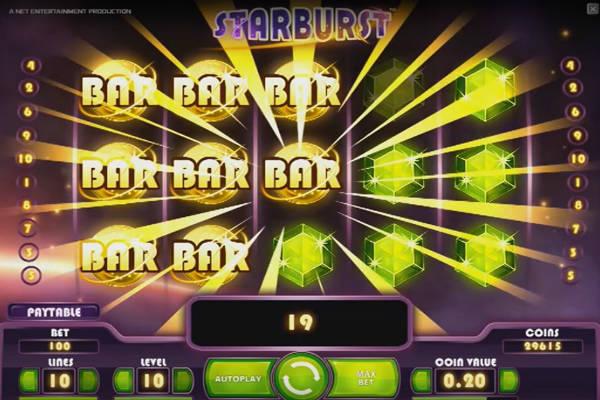 starburs video slot im Playfortuna casino