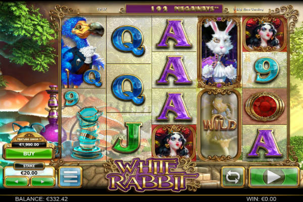 white rabbit video slot