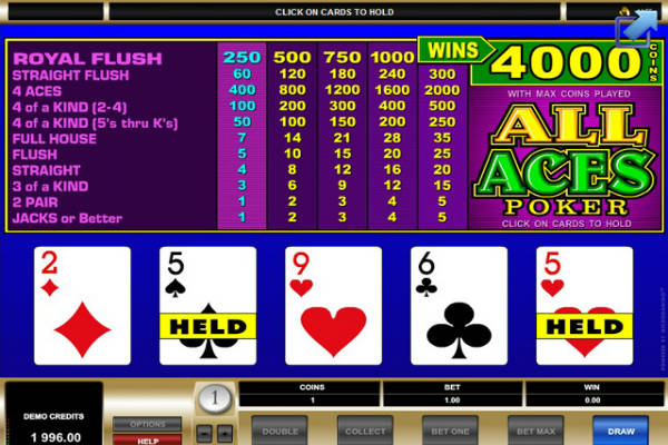 spiele all aces poker