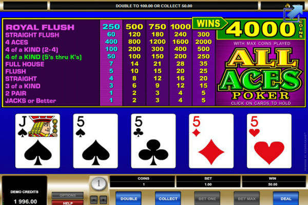 all aces poker im casino Playfortuna