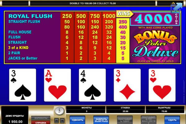 Bonus Poker Deluxe kostenlos spielen