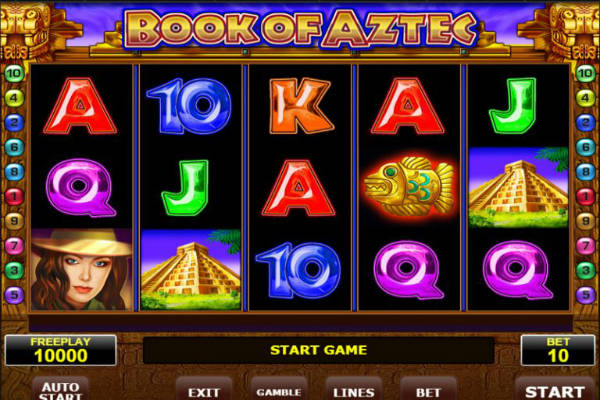 Book of Aztec slot machine