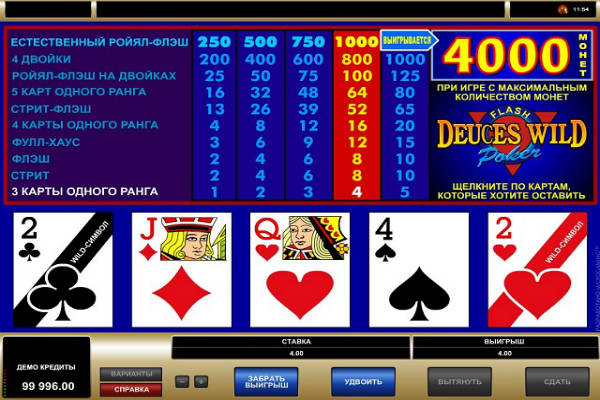 deuces wild poker im casino Playfortuna