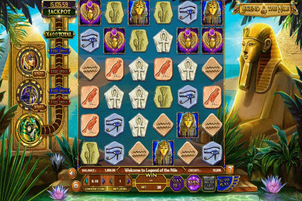 Legend of The Nile Progressive Jackpot