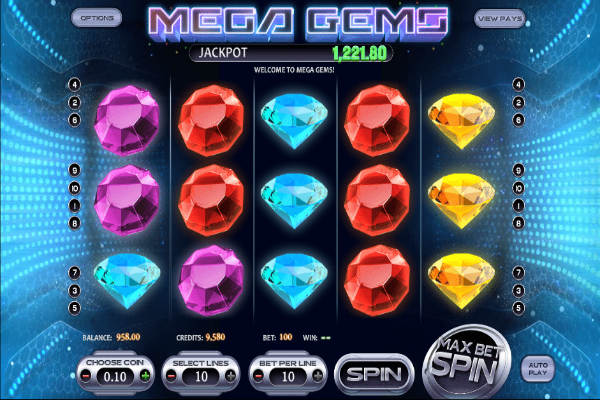Mega Gems Übersicht des Spiels