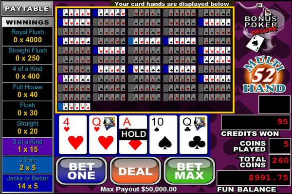 Multihand Poker: Bonus Deluxe