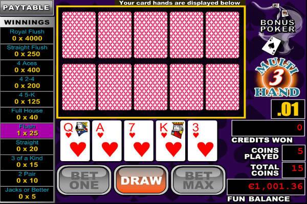 Multihand Poker: Bonus Deluxe im casino Playfortuna