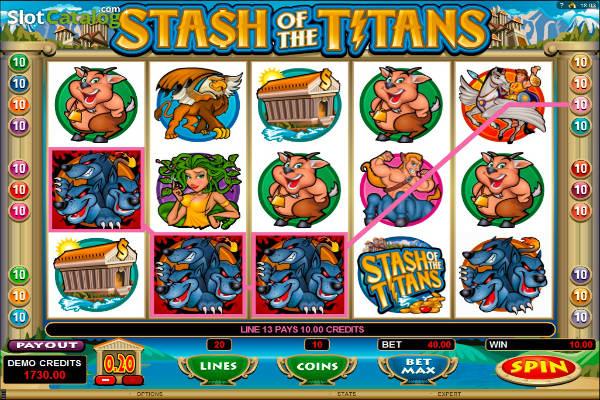 stash of the titans im Playfortuna casino