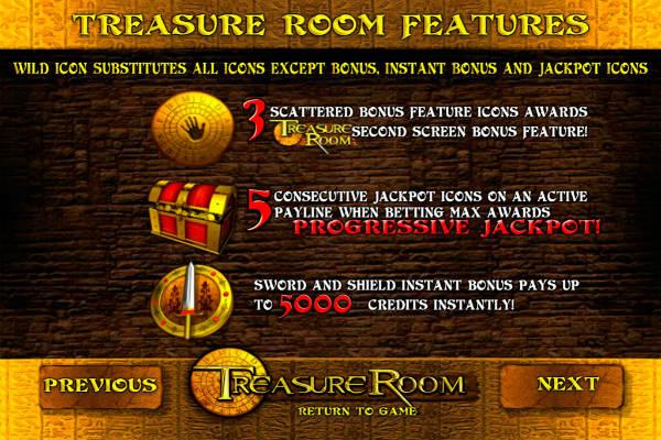 treasure room im Playfortuna casino