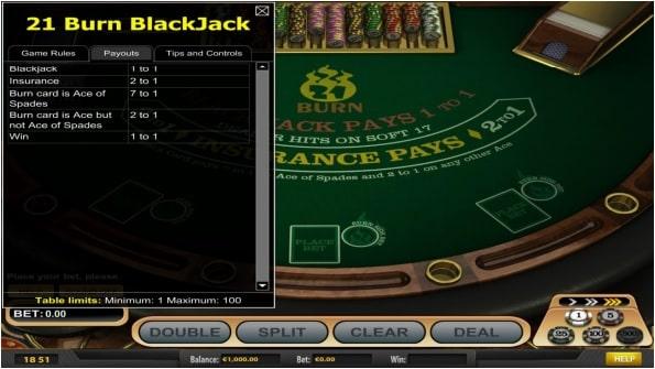 21 Burn Blackjack Kostenlos