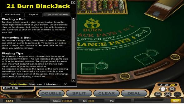Spiele 21 Burn Blackjack