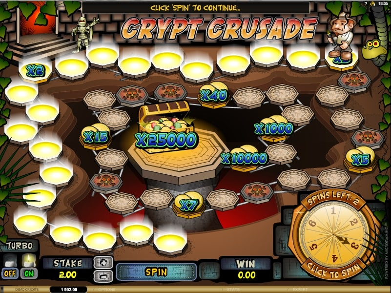Crypt Crusade Slot von Microgaming