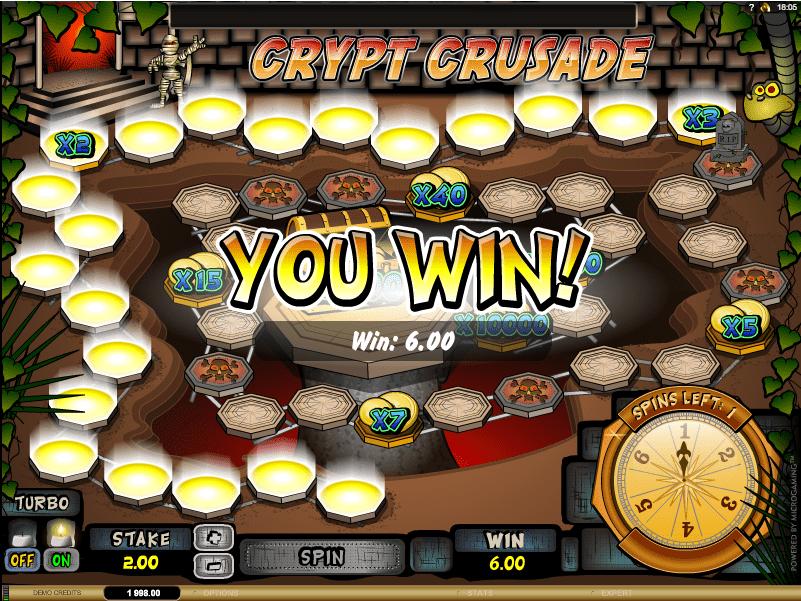 Crypt Crusade Spielautomat Bewertungen