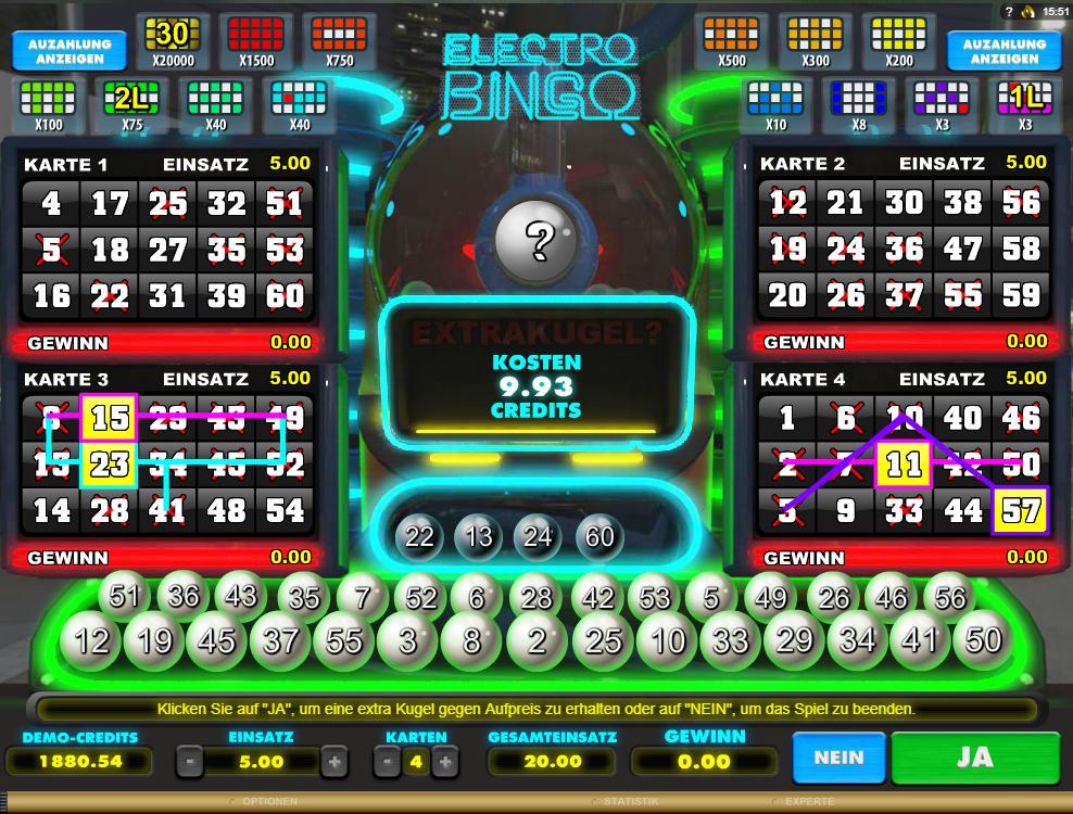 Electro Bingo Online