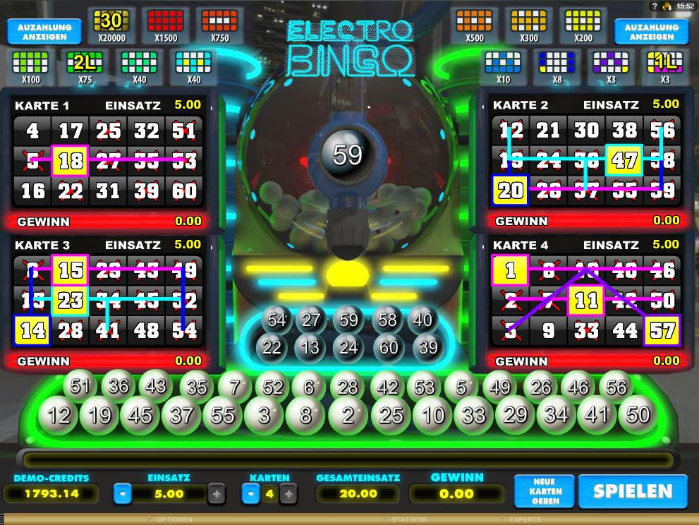 Electro Bingo spielen