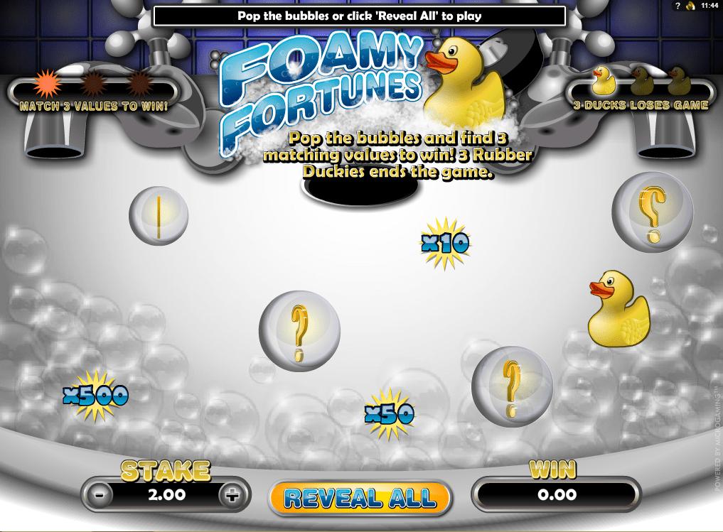 Foamy Fortunes online