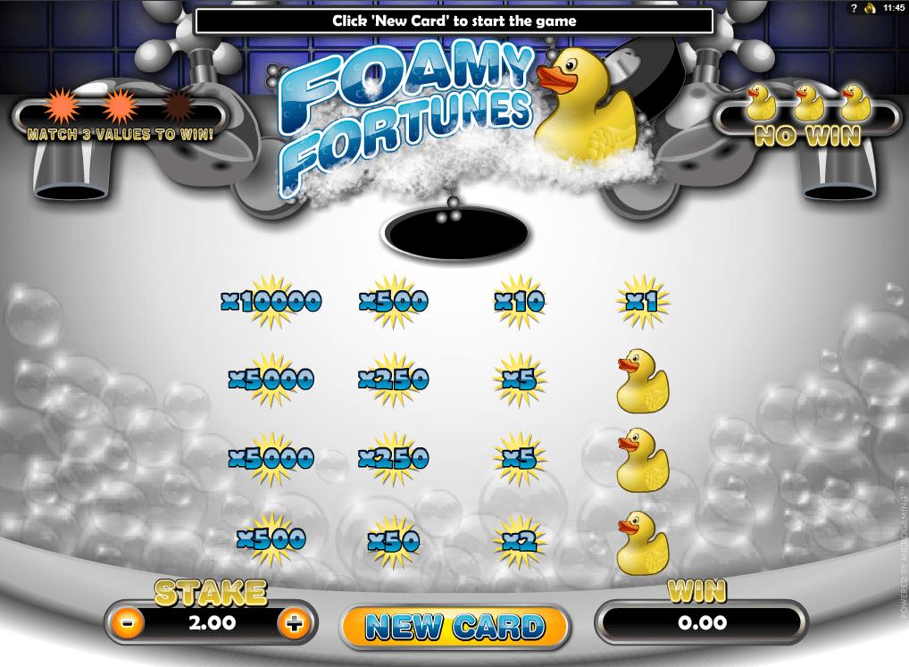 Spielautomat Foamy Fortunes