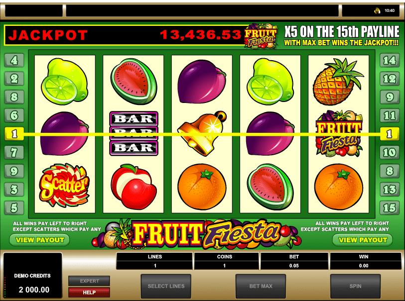 Fruit Fiesta 5 Reels Online