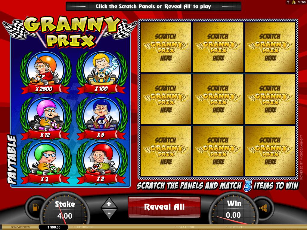 Granny Prix Scratchcard