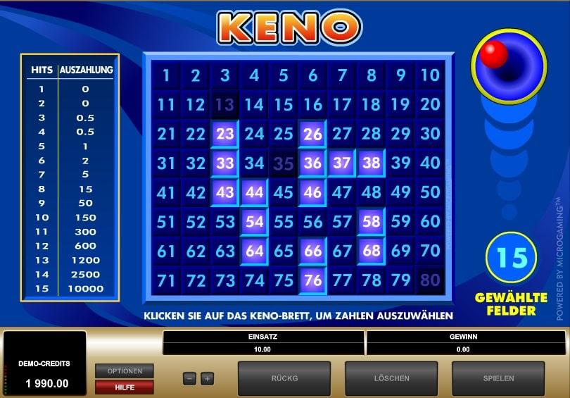 keno 4 online spielen