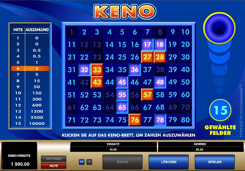 Keno 4 Spielautomat