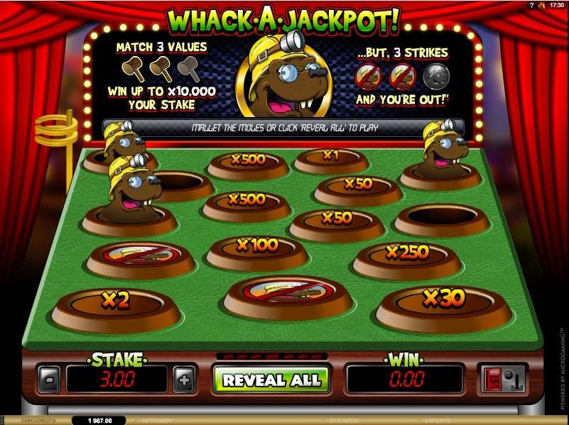 Whack a Jackpot spielen