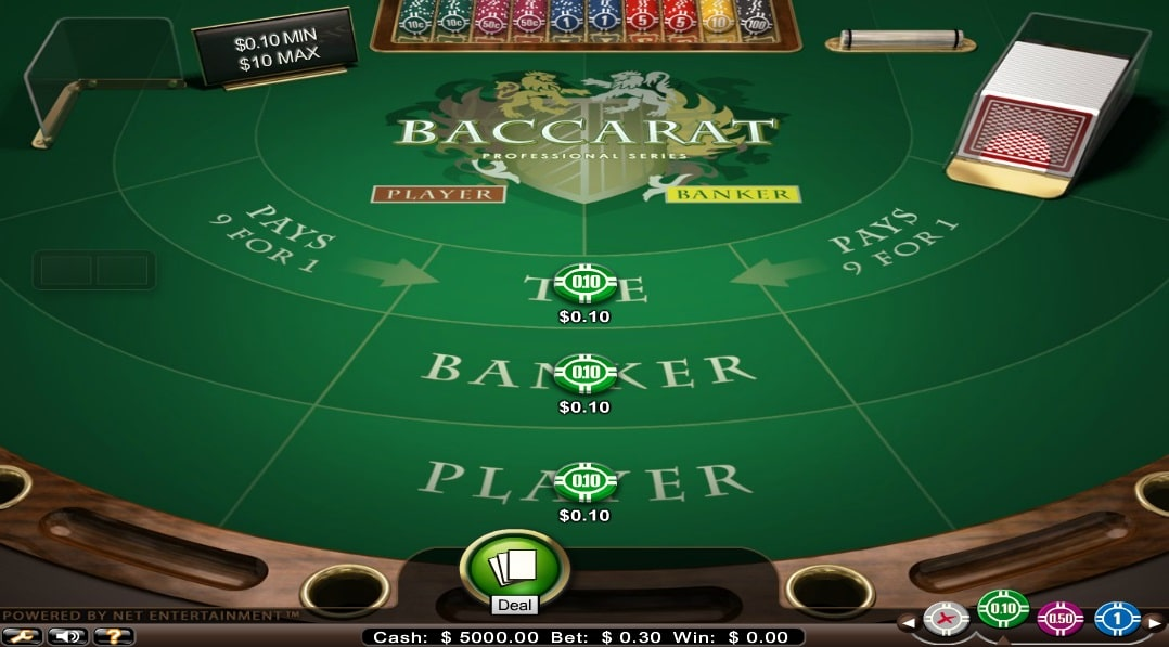 baccarat professional series low limit mobil