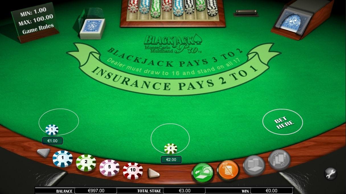 monte carlo blackjack