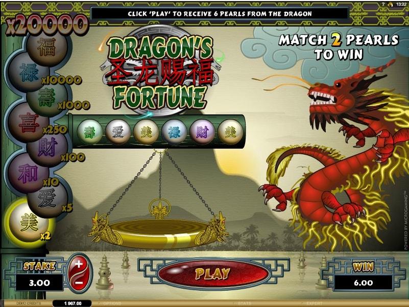 Dragons Fortune demo