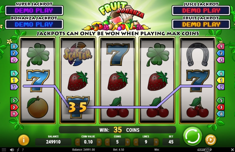 fruit bonanza spielautomat