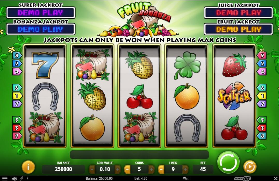 fruit bonanza kostenlos spielen