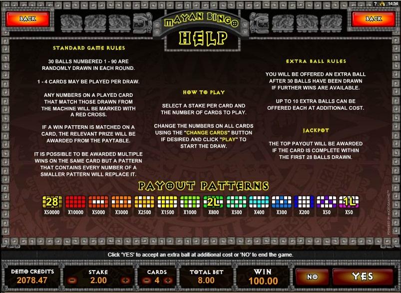 Mayan bingo spielen kostenlos