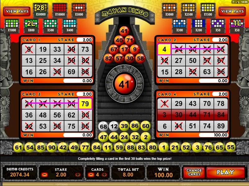 Mayan bingo online spielen
