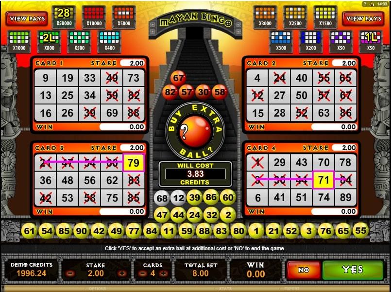 Mayan Bingo bingo online