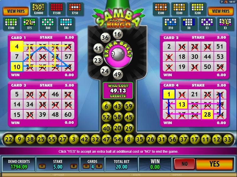 Samba Bingo Automaten