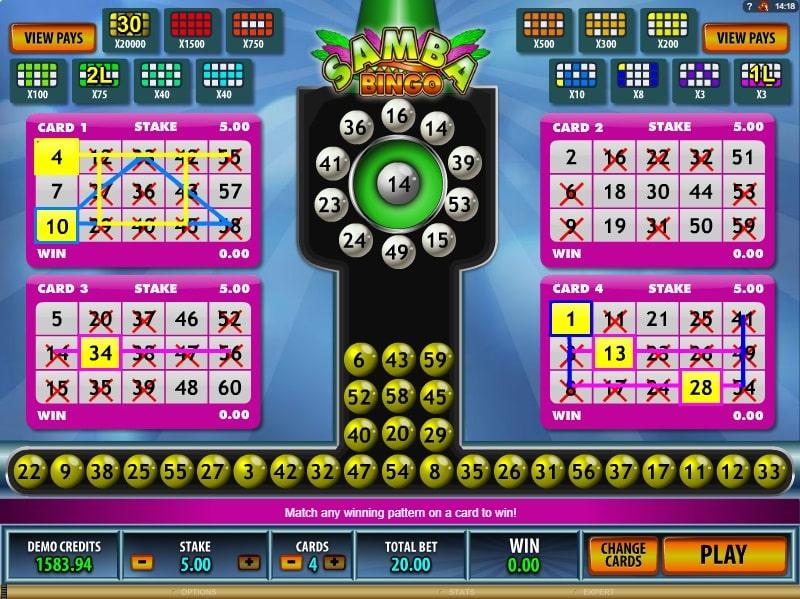 Samba Bingo Spiele