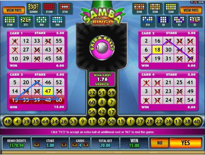 Samba Bingo online spielen