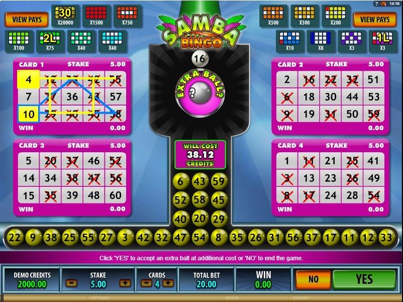 Samba Bingo online
