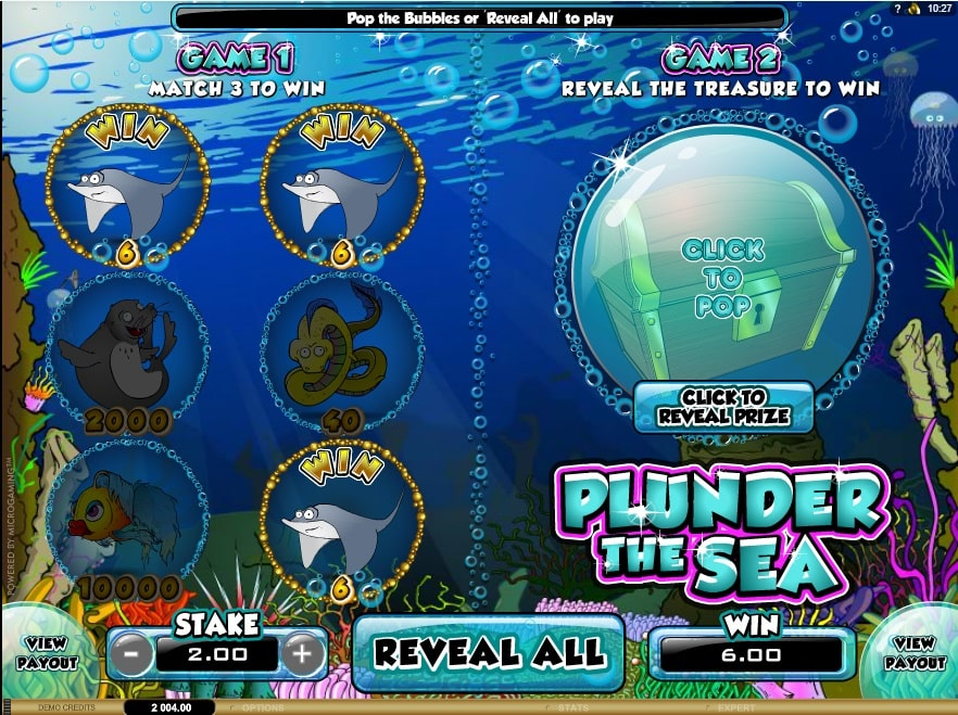 Plunder The Sea Online Spielautomat