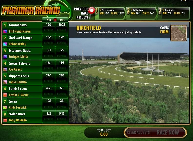 Premier Racing Spielautomaten