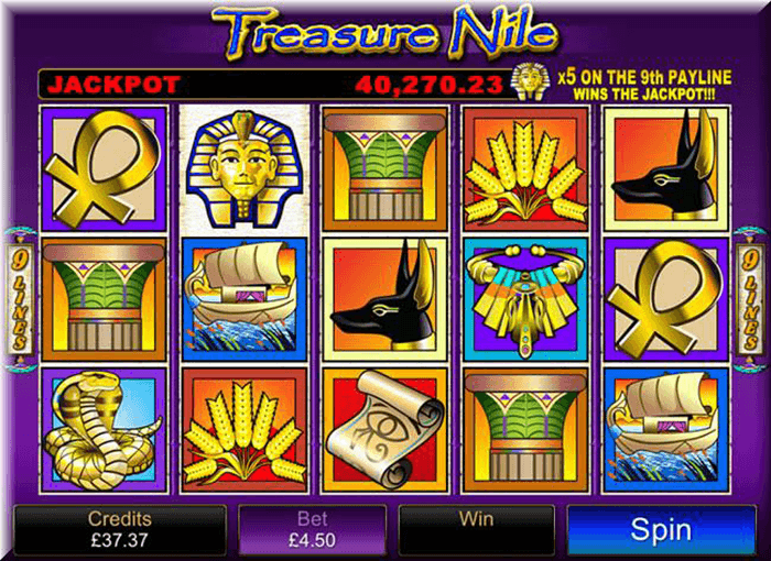 treasure nile spiel