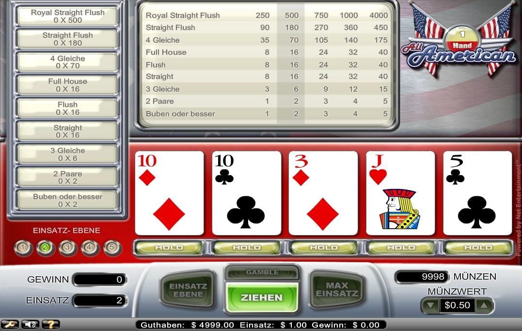 All American 100 Hand Screenshot
