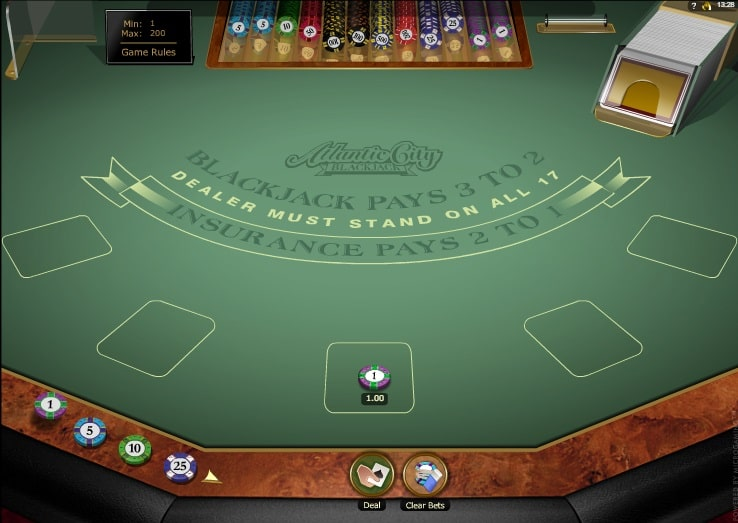 Blackjack Atlantic City Online