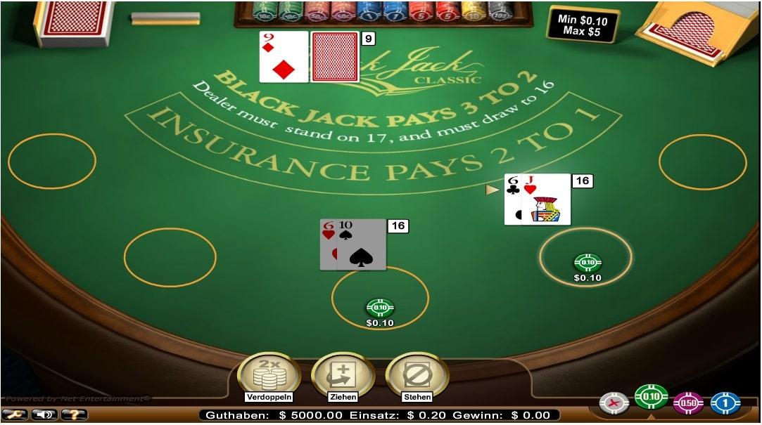 blackjack classic standard limit frei