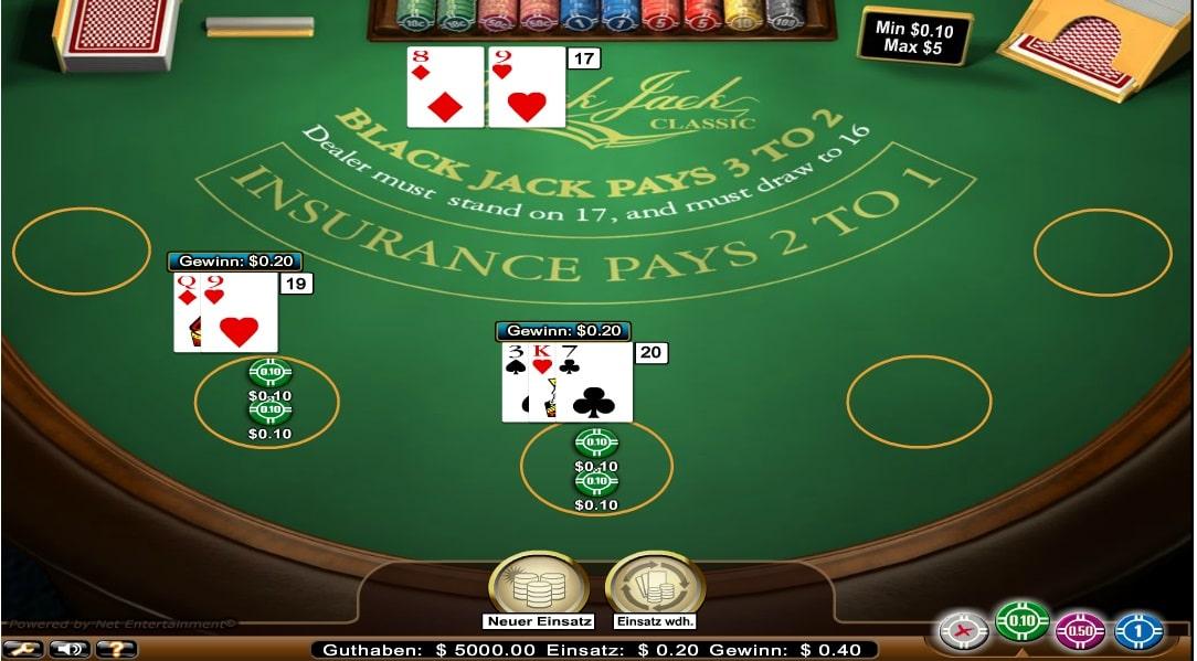 blackjack classic standard limit mobil