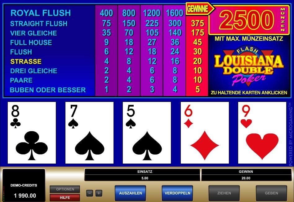 Louisiana Double Flash Poker spielen