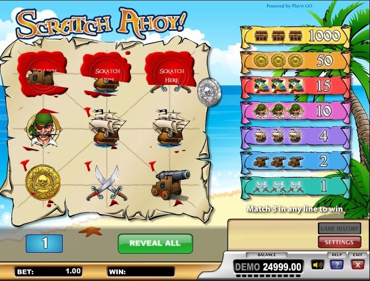 Scratch ahoy online ohne Anmeldung spielen