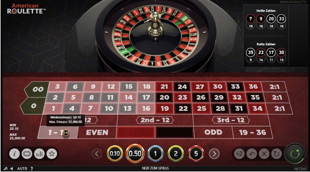 american roulette spielautomat